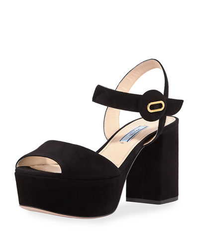 2018 Newest For Sale Prada Block heel platform sandals Discount 2018 Clearance Recommend Amazing Price Cheap Online FtTdFp