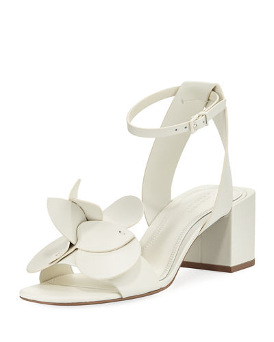 Tealia Leather Block-Heel Sandal