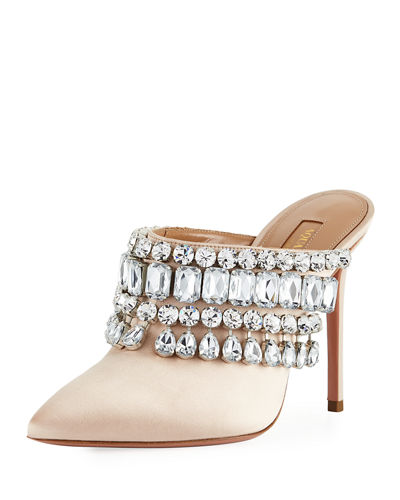 Gem Palace Satin Slide Mule