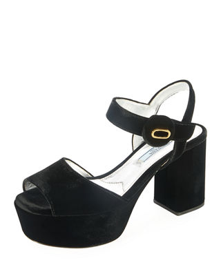 embellished platform sandals - Black Prada