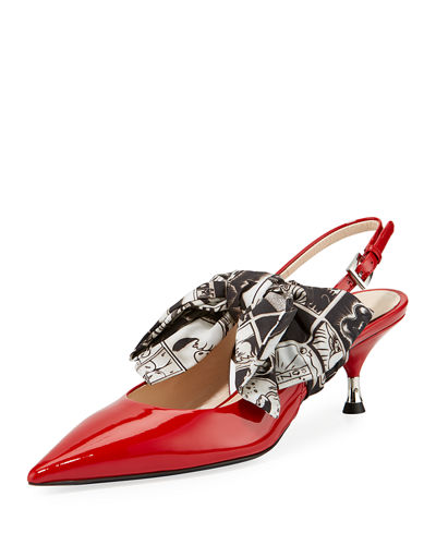 Patent Slingback 55mm Pump