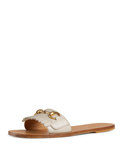 Varadero Leather Kiltie Slide Sandal with Bit