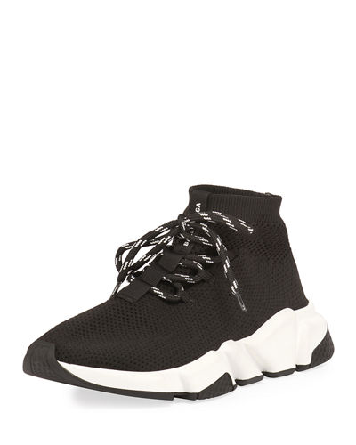 Speed Lace-Up Knit Trainer