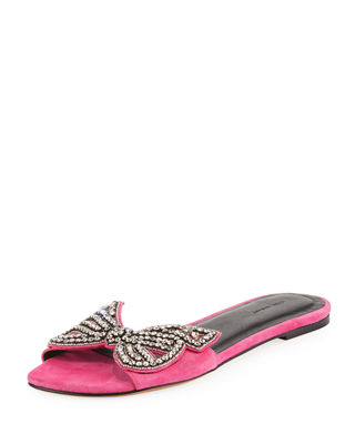embellished bow sandals - Pink & Purple Isabel Marant