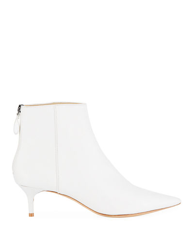 Kitti Point-Toe Leather Booties