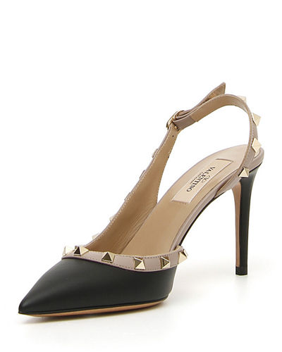 86e0f7ce4c6 Valentino Garavani Rockstud Leather 85mm Slingback Pump