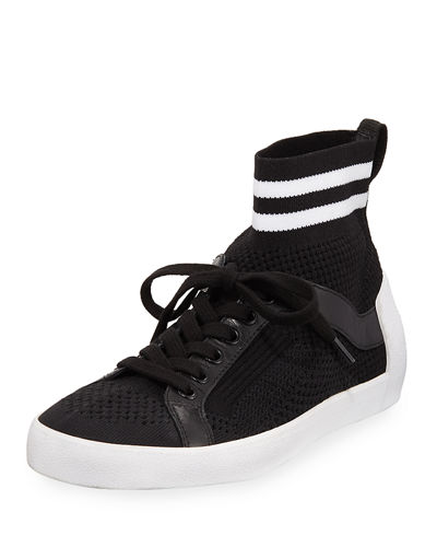 Knit Mesh Lace-Up Sneaker