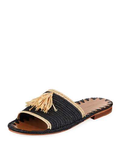 Free Shipping Visit New Carrie Forbes Raffia Slide Sandals Cheap Sale Low Shipping Fee Cheap Sale Real zokCFiy