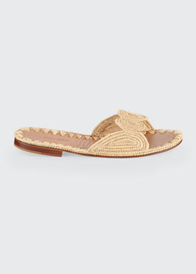 Carrie Forbes Raffia Slide Sandals