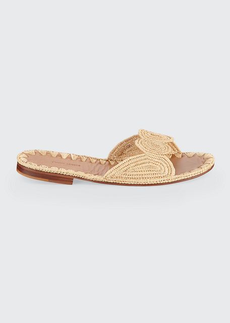 Carrie Forbes NAIMA WOVEN RAFFIA SLIDE SANDALS