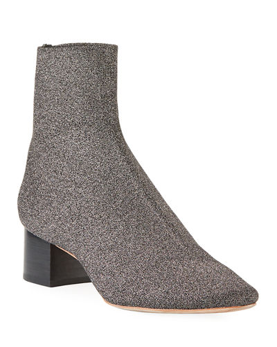 Carter Metallic Knit Sock Bootie