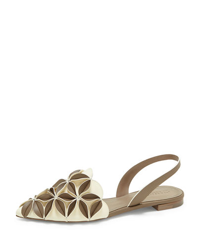 Madee Slingback Sandal with 3D Petal Detail