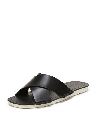 Women'S Nico Leather Slide Sandals, Black from Gilt