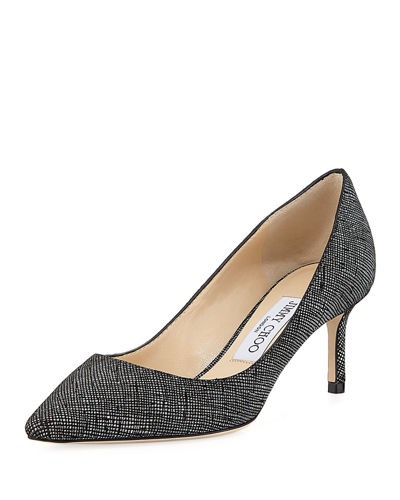 Romy Glittered Leather 60mm Pump