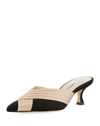 Vergamod Satin Pointed Mule