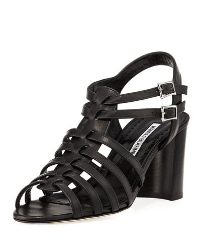 Ticcia 70mm Leather Sandal w/ Buckles