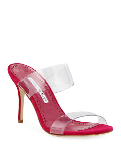 Scolto PVC Two-Strap Sandals