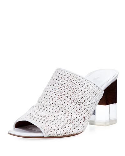 Anguola Woven Leather Mule Sandal