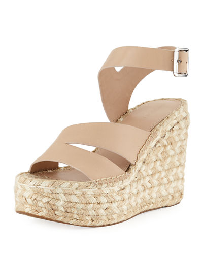Arien Asymmetric Leather Wedge Sandal
