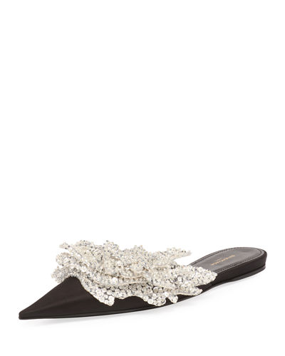 Embellished Pointed-Toe Flat