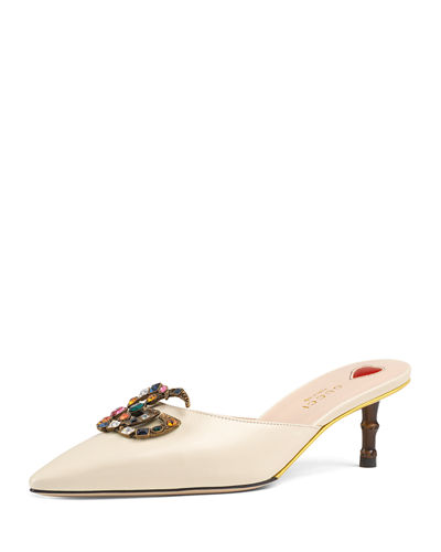Unia Leather Embellished Mule