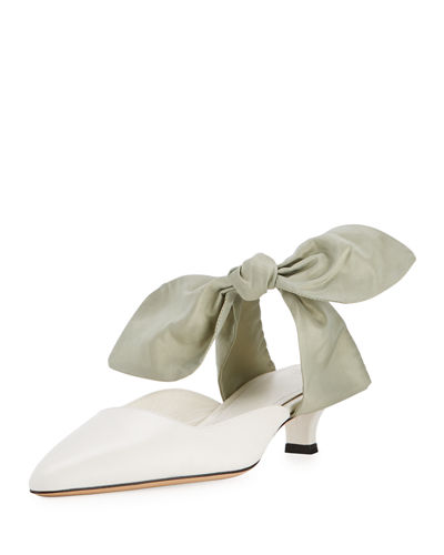 Coco Bow-Toe Mule Pump