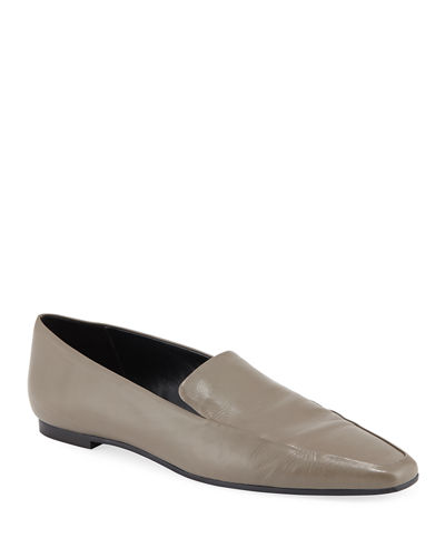 Minimal Leather Flat Loafers