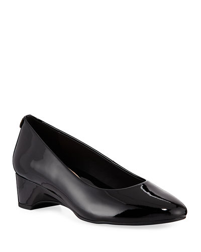 Babs Soft Patent Leather Demi-Wedge Comfort Pumps