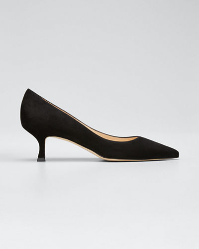Srila Suede Low-Heel Pump