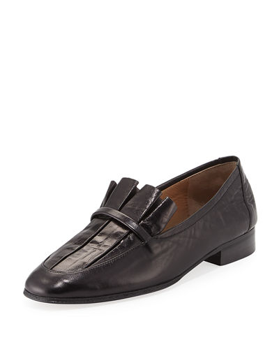 deals cheap online visa payment sale online The Row Adam Pleat Leather Loafers y4maOvoS
