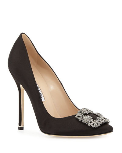 c9fdb656d3 Hangisi 115mm Satin Crystal-Toe Pump Quick Look. Manolo Blahnik