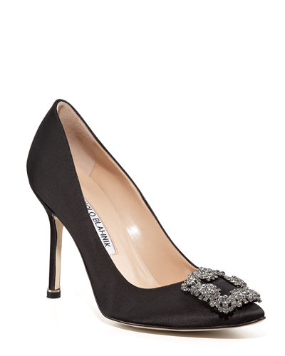 Hangisi 105mm Satin Pumps
