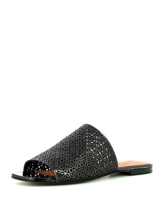 Robert Clergerie Leather Laser Cut Sandals