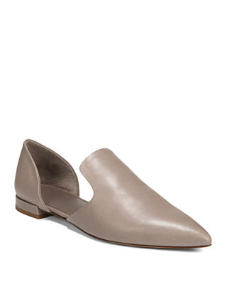Damris Two-Piece Siviglia Leather Loafer Flat, Dk River Clay
