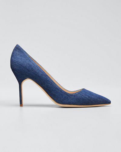 BB 90mm Multi-Woven Leather Pumps