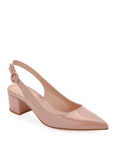 Patent Leather Slingback Pump