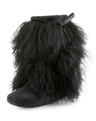 Mongolian Lamb Fur Booties