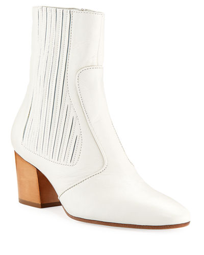 Ringo Pleated Leather Bootie