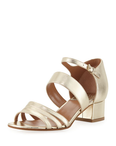 Nanou Metallic Strappy Sandals