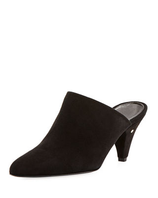 LAURENCE DACADE Women'S Stefany Suede Pointed-Toe Mules in Black