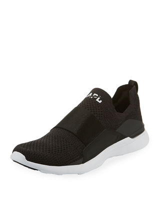 Women'S Techloom Bliss Knit Slip-On Sneakers in Black