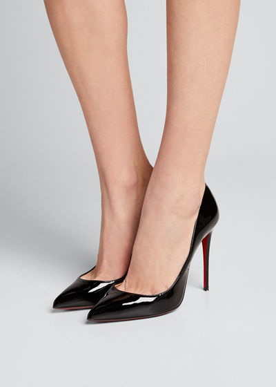 Pigalle Follies Patent Pointed-Toe Red Sole Pump
