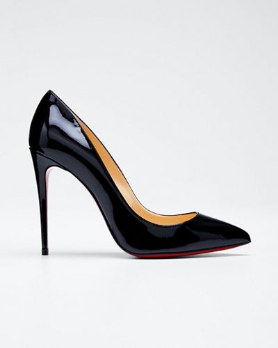 Christian Louboutin Pigalle Follies Patent Pointed-Toe Red Sole
