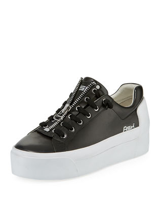 Buzz Leather Flatform Creepers, Black - Black