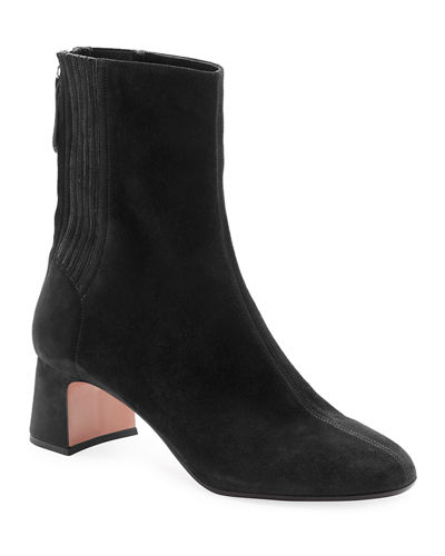 Aquazzura Saint Honore 50mm Suede Bootie