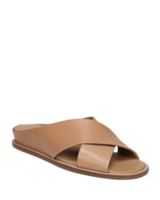 Women'S Fairley Leather Slide Sandals in Tan