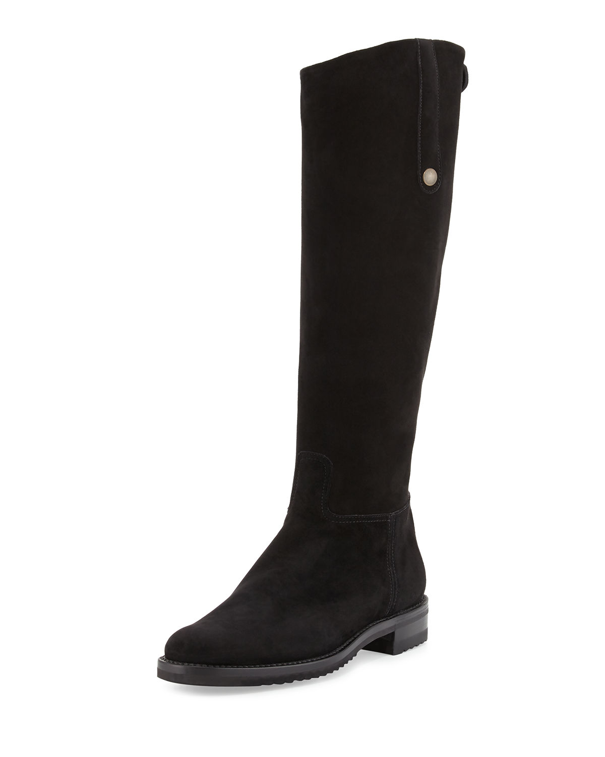 Tall Suede Riding Boot
