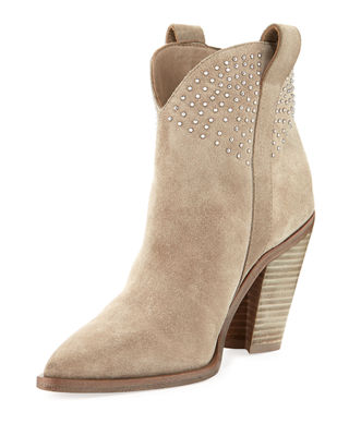 KALIE POINTED-TOE SUEDE STUD BOOT