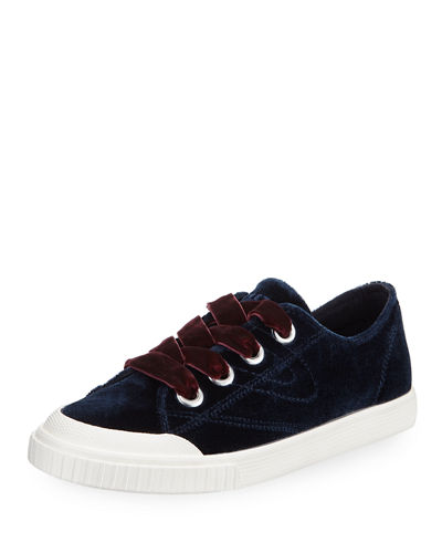 Marley Lace-Up Velvet Sneaker