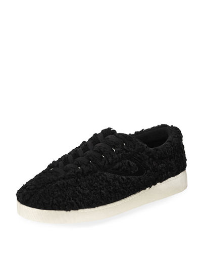 Nylite Faux-Shearling Sneakers